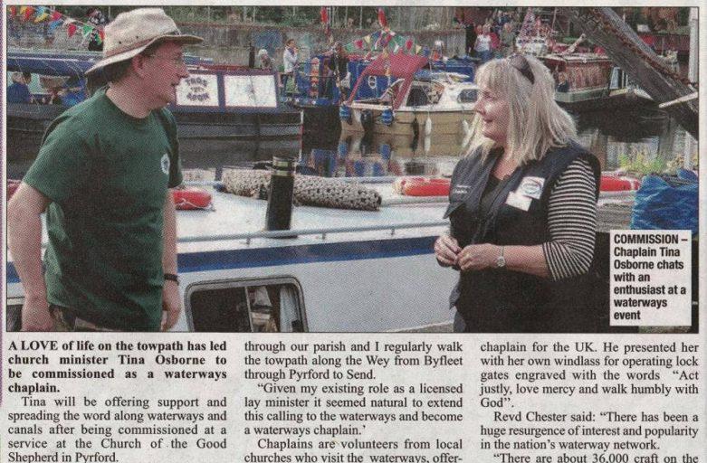 Tina Osborne, Waterways Chaplain