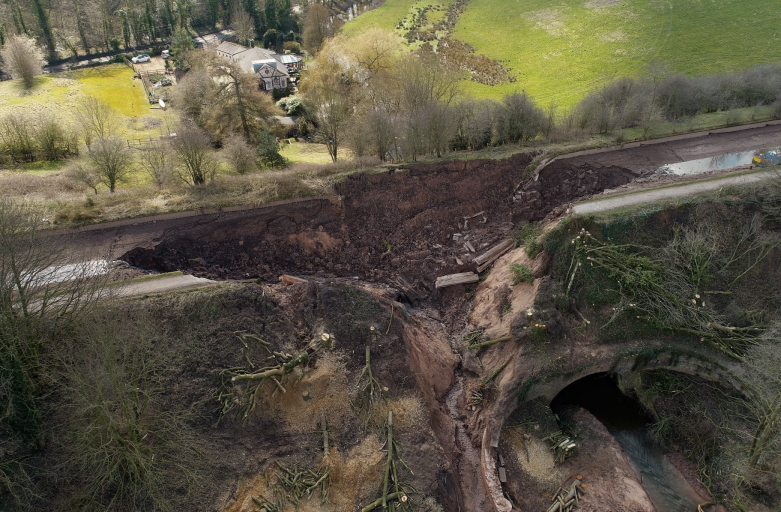 Aerial view of Middlewich Breach 2018