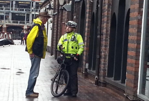 Waterways Chaplain talking to local police