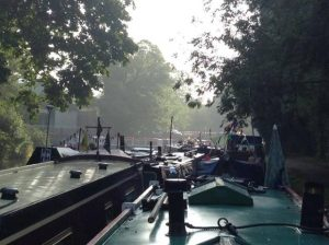 Morning across boats at Ware