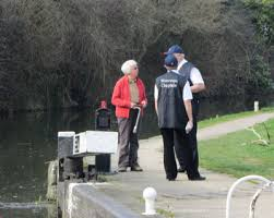 Waterways Chaplain chatting at a lock