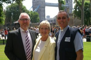 Waterways Chaplain 10th Celebration at Tower of London with Pam Rhodes