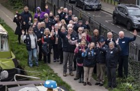 Waterways Chaplains on the towpath
