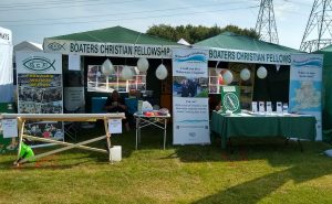 Waterways Chaplaincy stand at the IWA festival, Waltham Abbey
